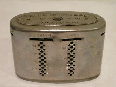 Vintage Automatic Recording Safe Bank -  Aetna Trust & Savings, Indianapolis