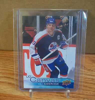2016 17 Upper Deck DALE HAWERCHUK ud canvas retired JETS