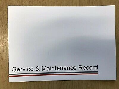 Honda Service Book All Models Covered Blank Brand New Service Book
