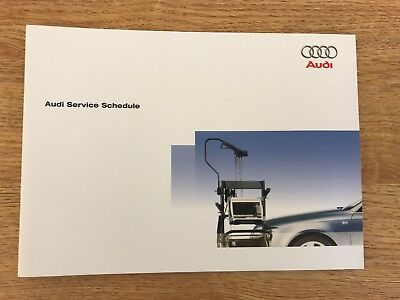 Audi Service Book, Brand New And Genuine, For All Petrol And Diesel Model Cars+