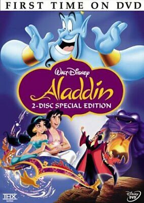 Aladdin (DVD, 2004, 2-Disc Set Special Edition) New & Sealed Slipcover Free Ship