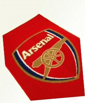 Official Football Floor Rug Mats Crest Bed Team Gift Bedroom Carpet Arsenal