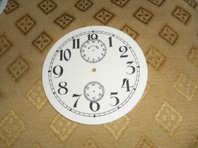 "Round Paper (Card) Clock Dial Seconds/Alarm Dials - 3 1/4"" M/T- Arabic - Parts"