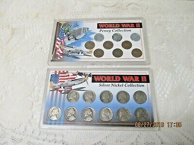 Two Vintage World War II Coin Collections - Silver Nickel & Penny Sets!