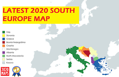 Latest South Europe Map 2019 for Garmin GPSs