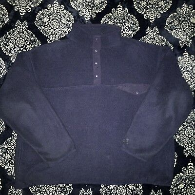 Vintage EMS Eastern Mountain Sports Snap Button T Fleece Large USA Made