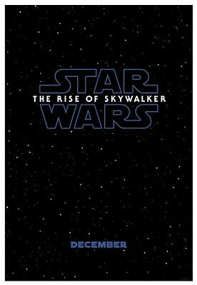 Star Wars The Rise Of Skywalker 27x40 D/S Teaser Poster Original