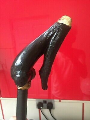 Beautiful vintage  wooden walking stick hand made handle made from wood