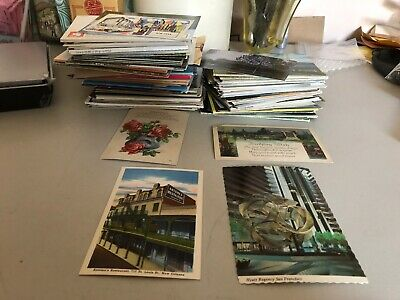 4 Pounds Worth of Postcards From the 30's-70's 90% Never Written On