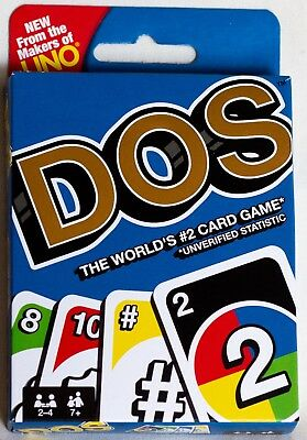 Brand New Mattel Games UNO DOS Card Game