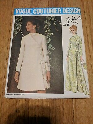 Vogue 2265 Couturier Design Fabiani Pattern Dress Size 14 1970 Uncut