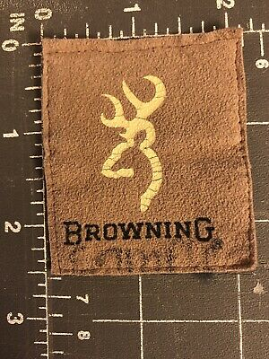 Browning Arms Company Logo Brand Since 1878 Patch Tag Clothing Apparel Firearms