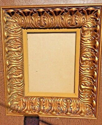 VINTAGE Rococo GOLD GILT WOOD PICTURE FRAME 8 X 10 Photo