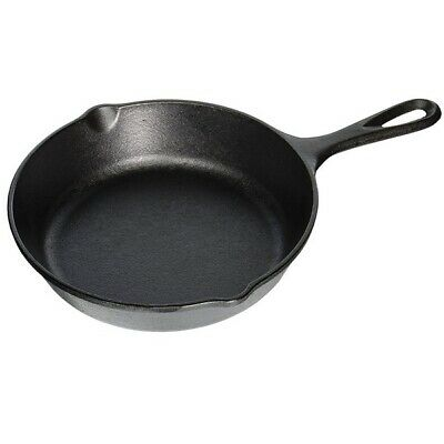 """Lodge Logic 8"""" Seasoned Cast Iron Skillet Frying Pan Stove Fry Cooking Cookware"""