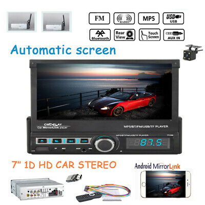 7''1 Din Car Radio Automatic Touch Screen+Camera TF AUX Mp5 Player FM Bluetooth