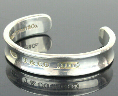Authentic Tiffany&Co. 1837 Sterling Silver 925 Cuff Bangle Bracelet 1997