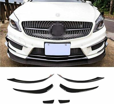For Mercedes W176 A250 A45AMG Front Bumper Spoiler Canards Lips Splitters FRP