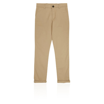 M&S T873466P PLUS Beige Cotton Boys Chinos with Stretch (3-16 Years) £16