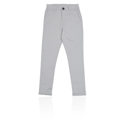 M&S T873468P PLUS Grey Cotton Boys Chinos with Stretch (3-16 Years) £16
