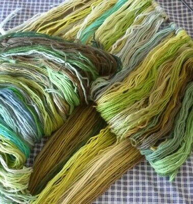 Bulk Lot of Tapestry Wool GREEN COLLECTION 500 plus strands