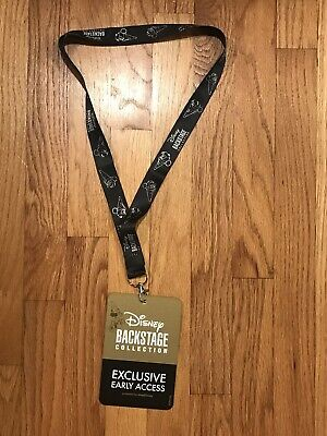 D23 2019 Disney Backstage Collection Exclusive Early Access Card with Lanyard