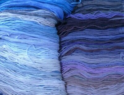 Bulk Lot of Tapestry Wool BLUE / PURPLE / GREY COLLECTION 500 plus strands