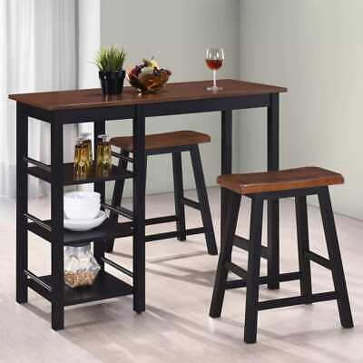 3 Pieces/set Home Dinning Set Bar Table and Chairs Kitchen Furniture MDF