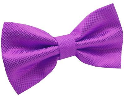 GIFTS FOR MEN Pre-Tied Adjustable Mens Check Checked Party Work Bow Tie Purple