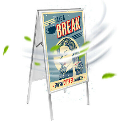A1 Aluminum Alloy A-frame Holder Sandwich Board Advertising Display Poster Stand