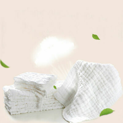 Soft 12 Layers Bamboo Fiber Insert Liners For Cloth Diaper Baby M5C0