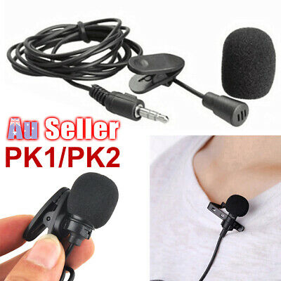 Mini Mic Mobile Phone For Lavalier Microphone 3.5mm Recording Lapel PC Clip-on
