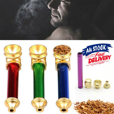 10 cm Metal smoking pipe Cone Brass - Smoking Pipe Solid Tobacco