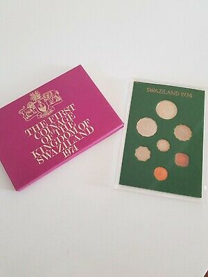 Royal Mint 1974 The First Decimal Coinage Swaziland 7 Coin Proof Set Cased
