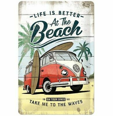 Tin Sign 20 x 30 cm: Life Is Better At The Beach