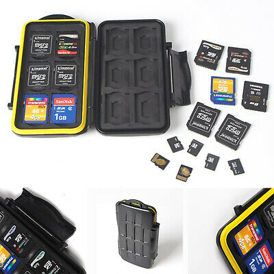 Professional SD Memory Card Waterproof Protection Wallet Carrying Case
