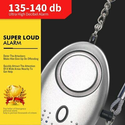 2Pack Personal Alarm 130DB Emergency Safe Sound Loud Alert Attack Panic Keychain