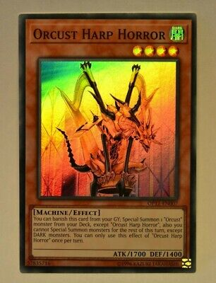 Yu-Gi-Oh Orcust Harp Horror Super Rare Ulimited Edition Mint OP11-EN007
