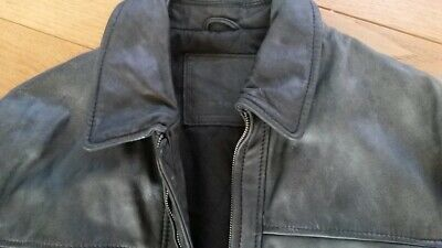 BELLE VESTE T L CUIR BUFFLE leather jacket vintage EUR 36