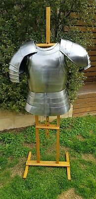 18GA SCA Larp Medieval Half Body Armor Suit With Cuirass/Pauldrons
