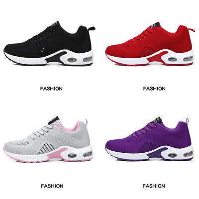 Women Lightweight Air Cushion Sports Shoes Mesh Athletic Tennis Running Sneakers