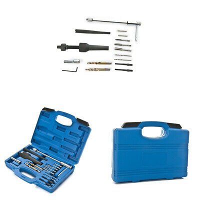 16pc Glow Plug Removal Remover Extractor Set Thread Repair Car Garage Tool