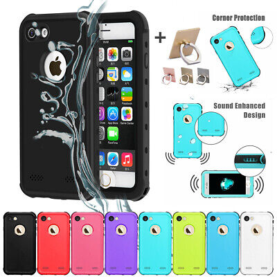 Shockproof Hybrid Waterproof TPU Rubber Case Cover For iPhone SE 5 6S 7 8 X Plus