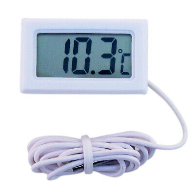 Aquarium Fish Tank LCD Digital For Fridge Freezer Thermometer Temperature Y2F3