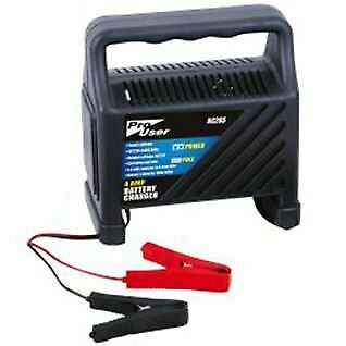 New 12V Compact Battery Charger 4Amp 230V AC Automatic Car Van Motorbike Mower