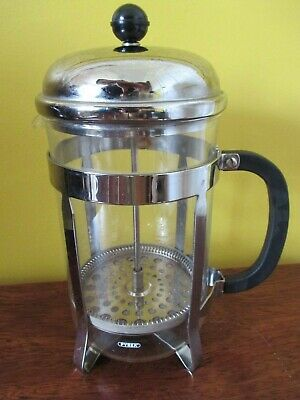 Pyrex Cafetiere Glass and Chrome with Black Handle