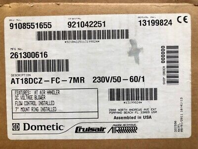 Dometic AT18DCZ-FC-7MR 230v 50/60hz 261300616 AIR HANDLER others available