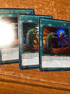 Yugioh X3 Called By The Grave DUDE-EN044 Ultra Rare 1st Ed Playset NM