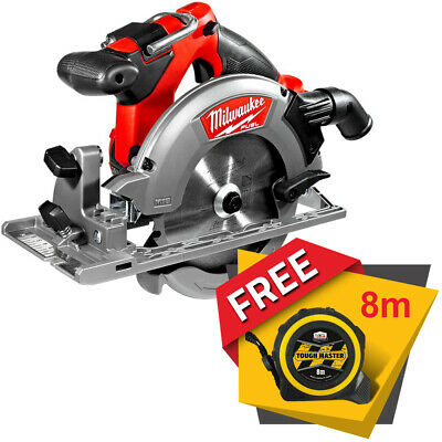 Milwaukee M18CCS55 M18 Fuel 18V Circular Saw With Free Tape Measures 8M/26ft