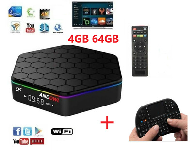 T95Z Plus Android Tv Box Cpu 4 Core 4Gb Ram 64Gb Rom Wifi Tastiera Telecomando