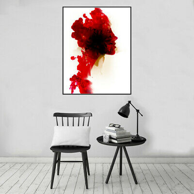 Abstract Beauty Woman Side Face Canvas Poster Art Painting Room Wall Home Decor